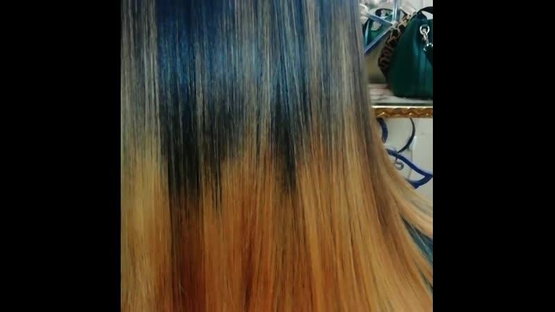 Кератиновое выпрямление волос для прекрасной Леночки❤️