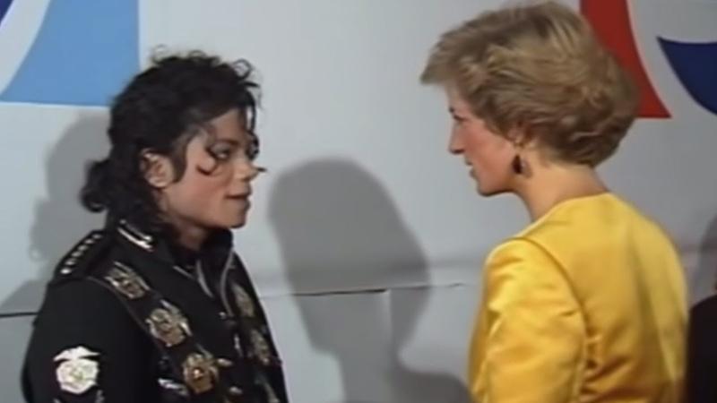 Michael Jackson meets Princess Diana Prince Charles