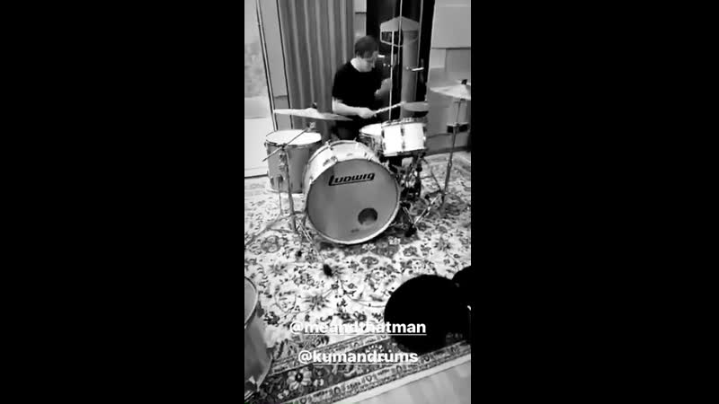Łukasz Kumański on drums