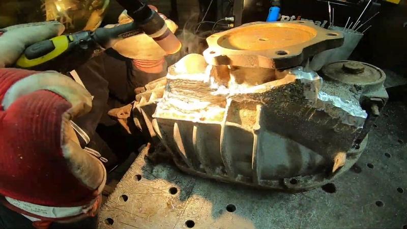 Наплавка алюминия Креплениe редуктора Сhevrolet Tahoe