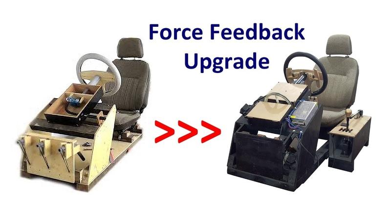 DIY Gaming Steering Wheel for PC Part 2 Force Feedback Upgrade