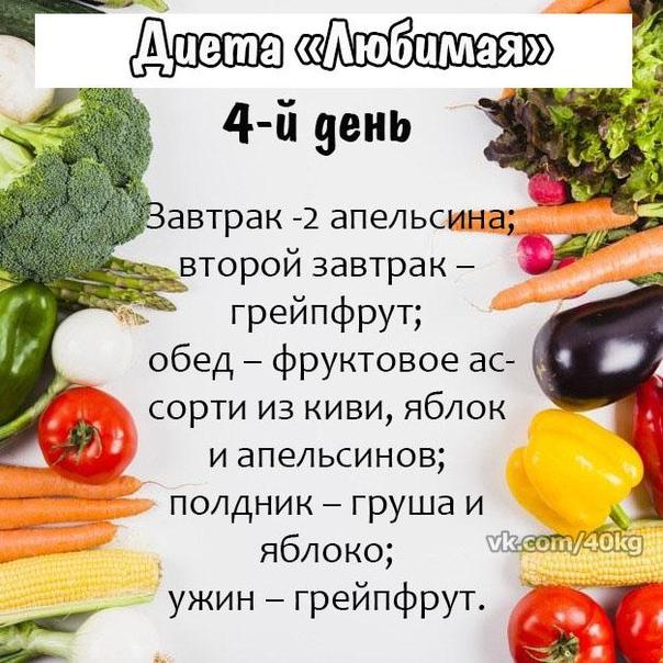 Любимая диет фруктовый день