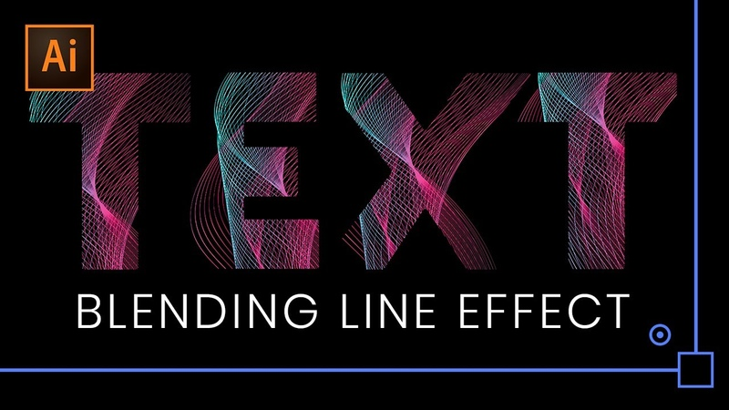 Text with Blending Vector Lines Effect | Follow Along Tutorial | Adobe Illustrator