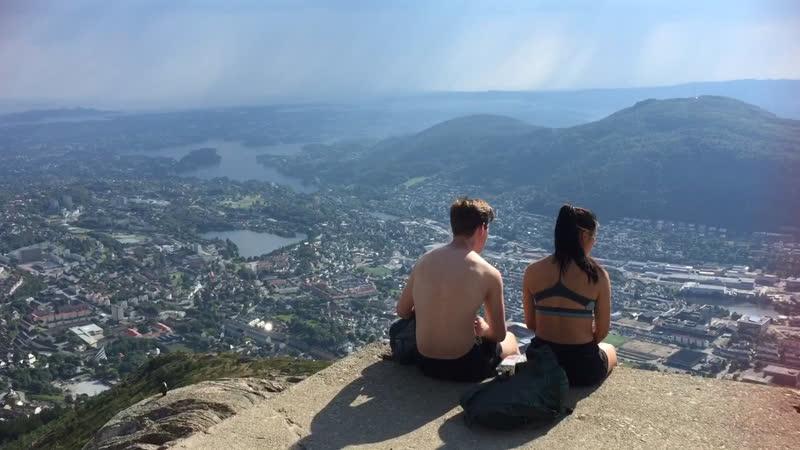 На вершине горы Ульрикен Берген 🇳🇴