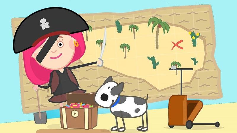 El tesoro pirata Smarta y un barco pirata Dibujos animados para niños en español