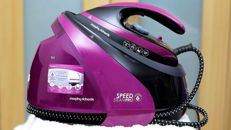 ОБЗОР УТЮГА С ПАРОГЕНЕРАТОРОМ Morphy Richards S Pro Purple 332102 смотреть онлайн без регистрации