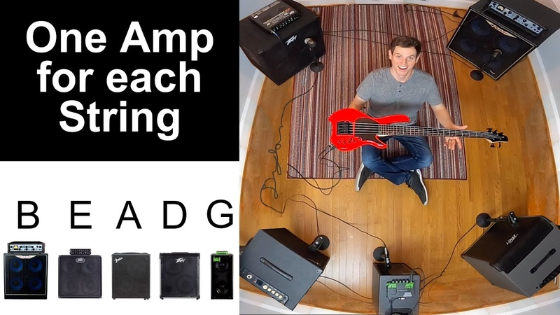 Surround Sound BASS RIG Every String Gets a Different Amp