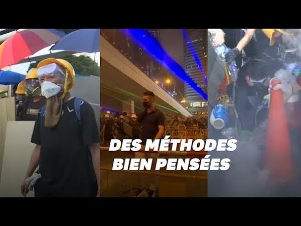 À Hong Kong les méthodes ingénieuses des manifestants contre la police