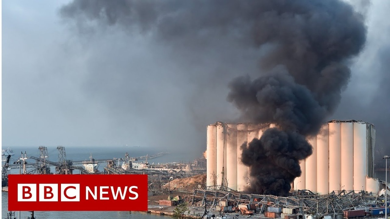 Widespread damage after huge explosion in Beirut BBC News