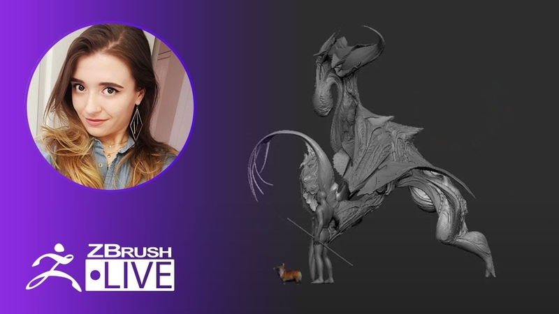 Concept 3D Creatures in ZBrush withme - Ashley A. Adams A_Cubed - ZBrush 2020