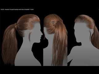 Realistic_Ponytail_HairStyle_with_XGen_1