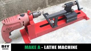 How To Make A Lathe Machine   Homemade Woodworking Lathe Machine   DIY