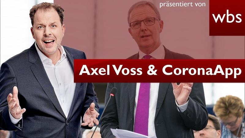 Axel Voss Will er CoronaApp Verweigerer benachteiligen Rechtsanwalt Christian Solmecke
