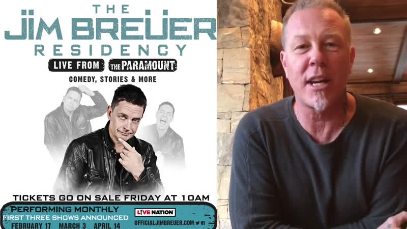 Residency live at The Paramount - Comedy, Stories, more! (James Hetfield Video Message)