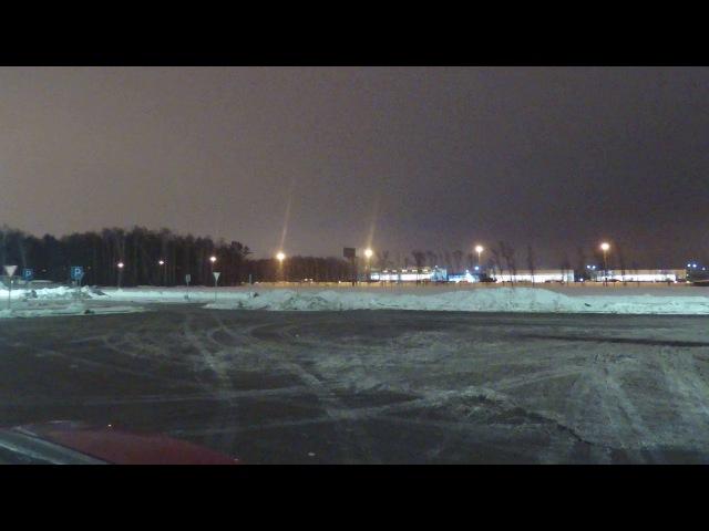 Звук, шум Киевского шоссе, трасса, зима