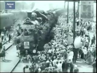 1945, Белорусский вокзал, Первый поезд Победы прибыл в Москву, 10 мая, кинохроника Победы