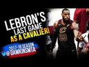LeBron James LAST Game For Cleveland - 2018 Finals GM4 vs Warriors - 23 Pts, 8 Asts! | FreeDawkins