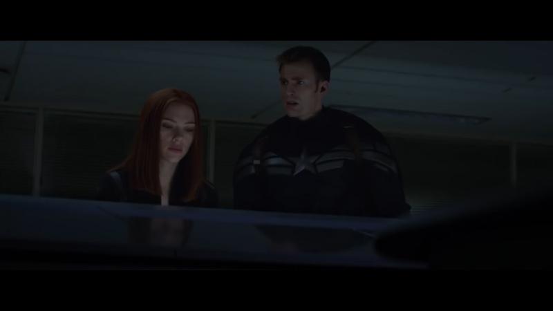 Штурм корабля, Капитан Америка и Черная вдова - Первый мститель: Другая война [ Captain America: The Winter Soldier фильм 2014]