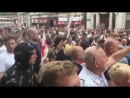 POLICE ATTACKED at FREETOMMY protest Trafalgar Square