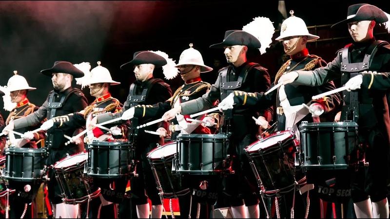 [HD] Royal Marines Corps of Drums Top Secret Drum Corps | MFM 2017 | Royal Albert Hall