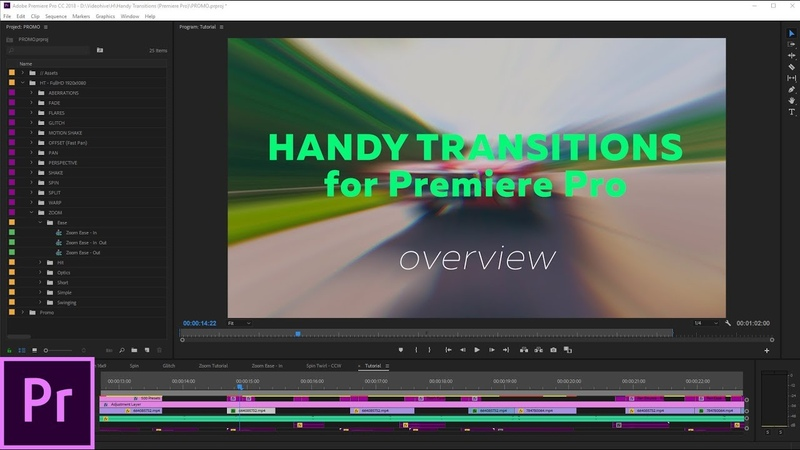 Handy Transitions for Premiere Pro - How to use