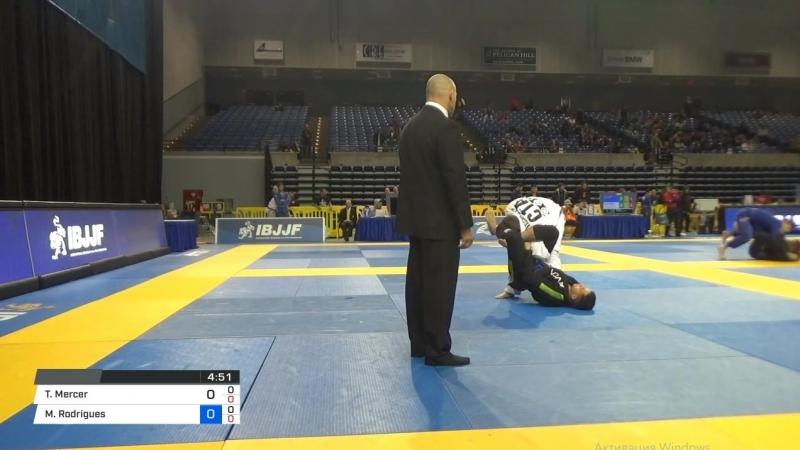 Troy Mercer vs Mateus Rodrigues 2018 Pan Jiu-Jitsu IBJJF Championship