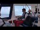 На катере на Мальдивах