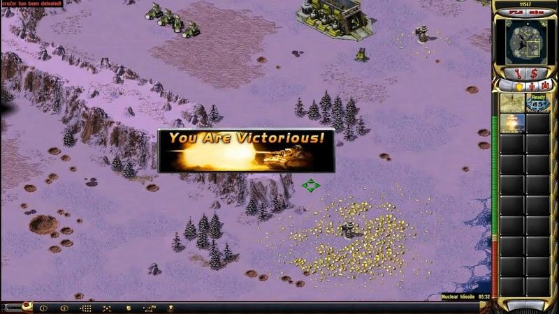 Red Alert 2 Yuri's Revenge - 1 vs 1 Pro Match on the map Roundhouse Kick