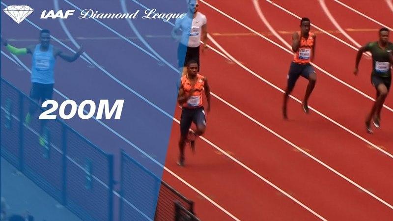 Noah Lyles Wins Men's 200m - IAAF Diamond League Eugene 2018