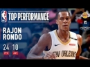 Rajon Rondo Scores Double-Double 24 Points and 10 Assists