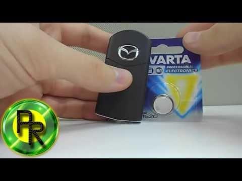 Как поменять батарейку в ключе Мазда 3, Мазда 6