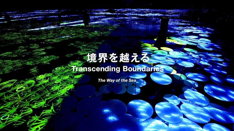 TeamLab Borderless, Transcending Boundaries - The Way of the Sea エプソン チームラボボーダレス、移動していく