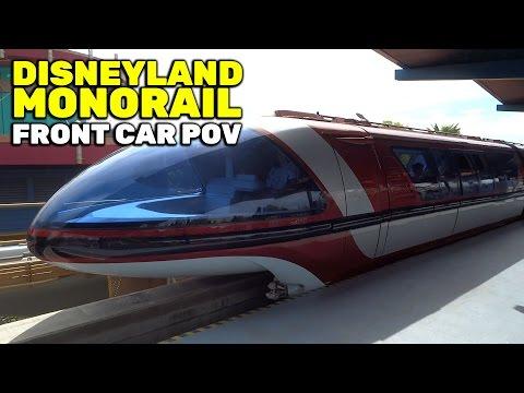 Monorail front car POV FULL CIRCUIT ride at Disneyland