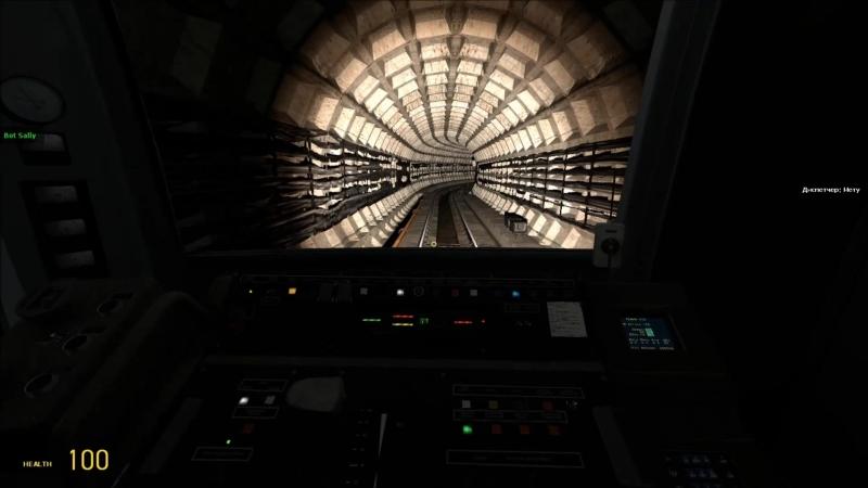 Скоростной полёт по crossline c4 на Яузе Metrostroi