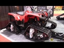 2015 Yamaha Grizzly 550 with TJD X Gen STS4 Track Kit Walkaround 2015 Salon Chasse Peche Quebec