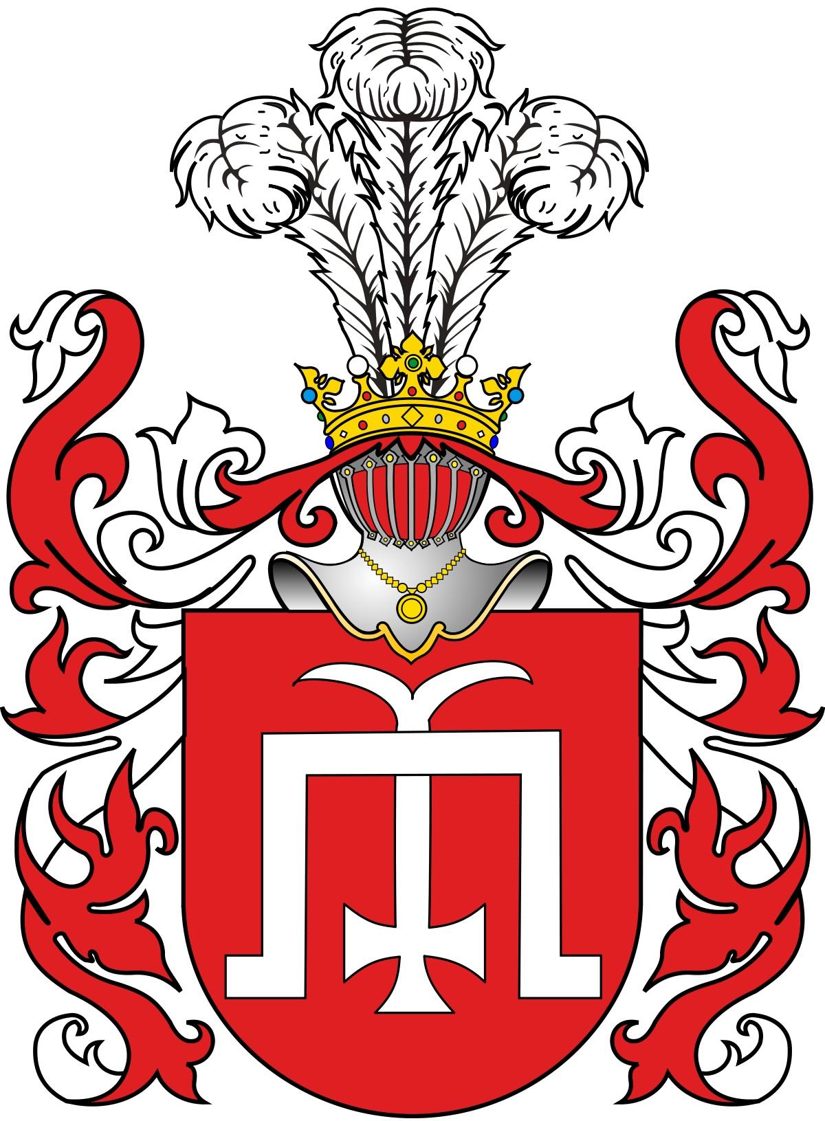 Герб князей Глинских в традиционных для Польши и Литвы красном и белом цвете