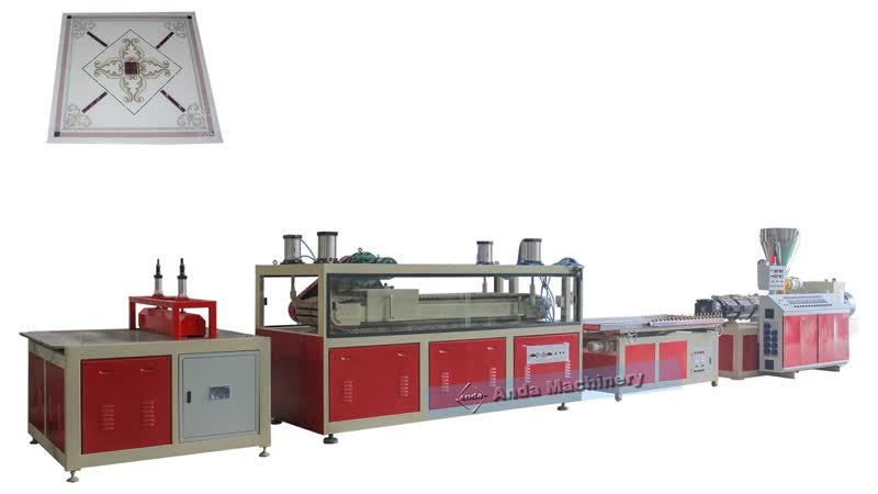 PVC ceiling tile machine from Anda machinery from China