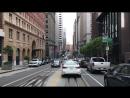 Холмы Сан Франциско знаменитая California St на которой снимали погони для многих Голливудских фильмов Meizu 15 видеорегист