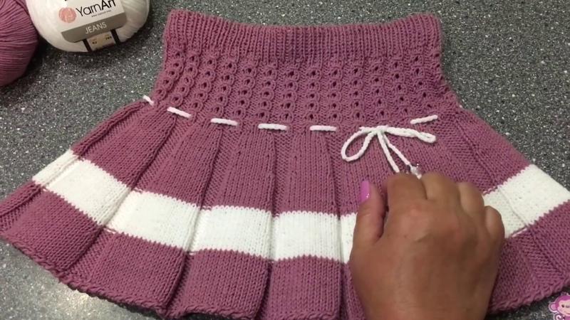 Вяжем юбочку для девочки спицами Юбочка Кокетка