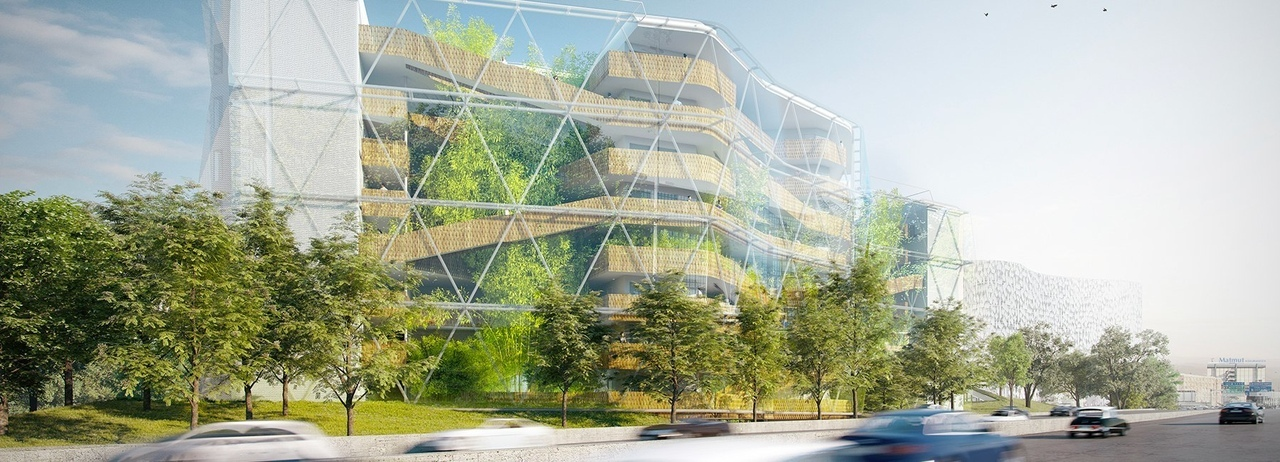 Hubert et roy's student hall proposal in Paris pays homage to Chinese landscaping culture