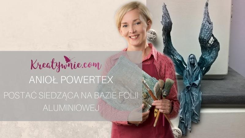 Anioł powertex - postać siedząca