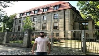 Anton SKALD возле здания Гестапо в Лейпциге (Из Архива)