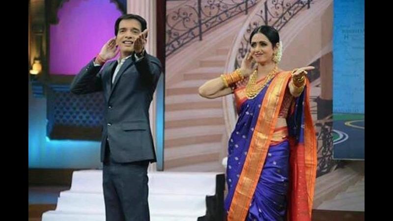 2017 г. Шридеви на программе Chala Hawa Yeu Dya Marathi. На продвижении фильма Мама.
