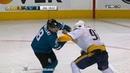 Ryan Johansen vs Joe Pavelski Nov 1, 2017