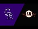 NL / 16.09.2018 / COL Rockies @ SF Giants (3/3)