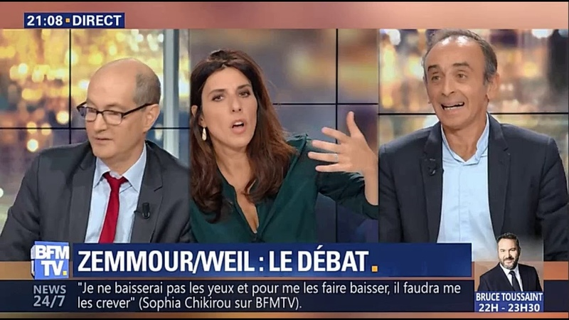 Zemmour et Weil débat entier ce 23oct2018 (Live Video)