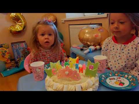 День рождения сестрёнки Каролина 3 года, Электромобиль Мерседес , Электромобиль Джип, Тачки