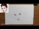[Азбука Рисования] Как нарисовать портрет карандашом - обучающий урок(основы такой портрет)!
