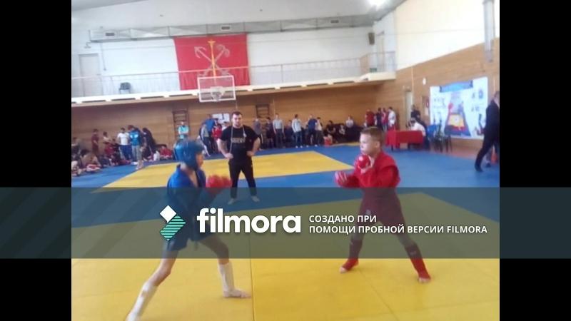 4-й бой Первенства России по боевому самбо (финал) Победа светогорца Кузьмина !