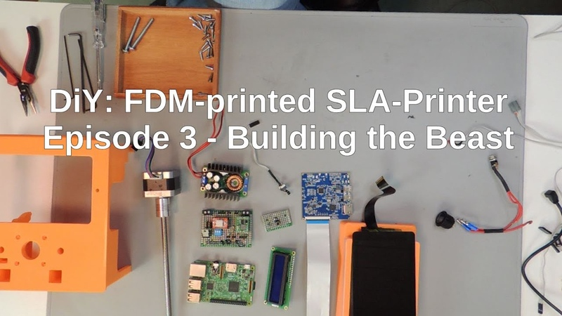 DIY: FDM-printed SLA-Printer: Part 3